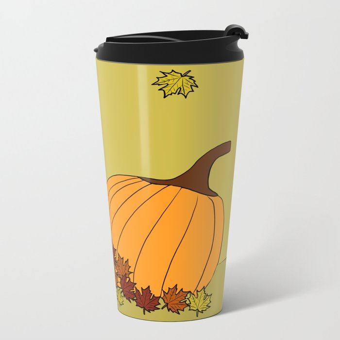 Cascade The Black Cat Welcomes Fall Metal Travel Mug