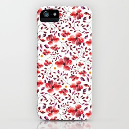 AUTUMN LEAVES - RED iPhone Case