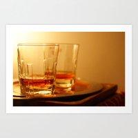 whiskey Art Prints featuring Whiskey by Vishal Wadhwani