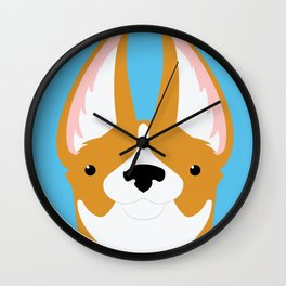 Corgi Smile Wall Clock