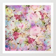 floral romance Art Print