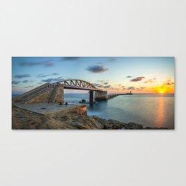 Bridge to nowhere Valletta Canvas Print