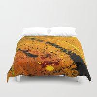 pocket fuel Duvet Covers featuring Loss Of Fuel by Spaz