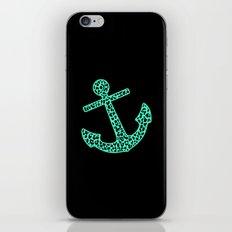 Mint Leopard Anchor iPhone & iPod Skin