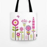 mod Tote Bags featuring MOD GARDEN by Daisy Beatrice