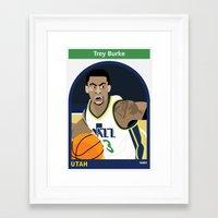 alisa burke Framed Art Prints featuring Trey Burke by Everyplayerintheleague