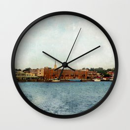 Wilmington, NC on the Cape Fear River Wall Clock