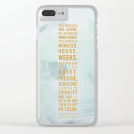 Heroism Clear iPhone Case