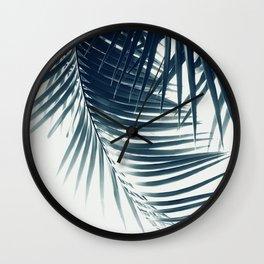 Palm Leaves Green Blue Vibes #2 #tropical #decor #art #society6 Wall Clock