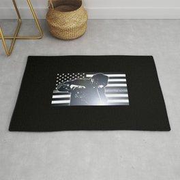 Welding: The Thin Metal Line Flag Rug