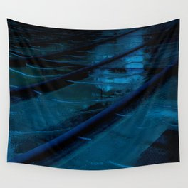 Blue Glass Waterfall Wall Tapestry