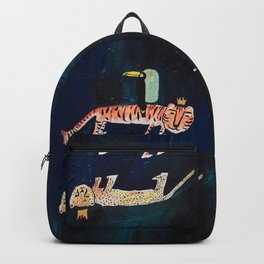 Tiger, Cheetah, Toucan Painting Backpack
