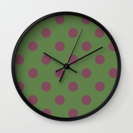 Pink and Green Pol Wall Clock