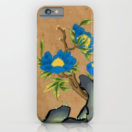 Minhwa: Peony on the Rock D Type (Korean traditional/folk art) iPhone Case