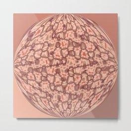 Wavy Sphere Metal Print