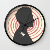 vertigo Wall Clocks featuring Vertigo by Bill Pyle