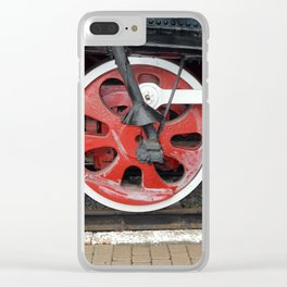 Railway transport details of locomotive the wagon Clear iPhone Case