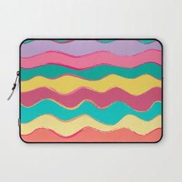 Wavy Pastel Tones Laptop Sleeve