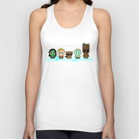 guardians of the galaxy Tank Tops featuring GUARDIANS OF THE GALAXY by Chris Thompson, ThompsonArts.com