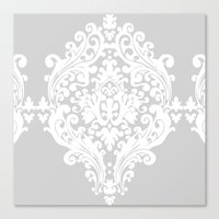 damask Canvas Prints featuring Damask by My Studio