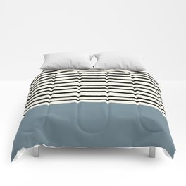 Dusty Blue x Stripes Comforters
