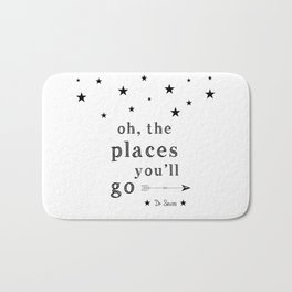 Oh the places you'll go - Dr Seuss Bath Mat