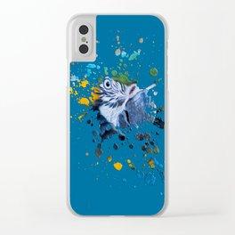 Paint Splat Parrot Clear iPhone Case