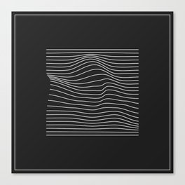 Minimal Square Warp Canvas Print