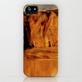 Sunset Cliffs Glitch iPhone Case