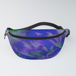 Bright Blue Watercolor Abstract Fanny Pack