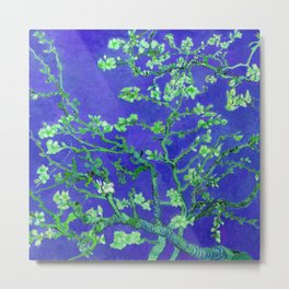 """Van Gogh's """"Almond blossoms"""" with deep blue background Metal Print"""