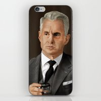 mad men iPhone & iPod Skins featuring Roger Sterling (Mad Men) by San Fernandez