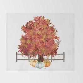 Woodland Autumn Throw Blanket