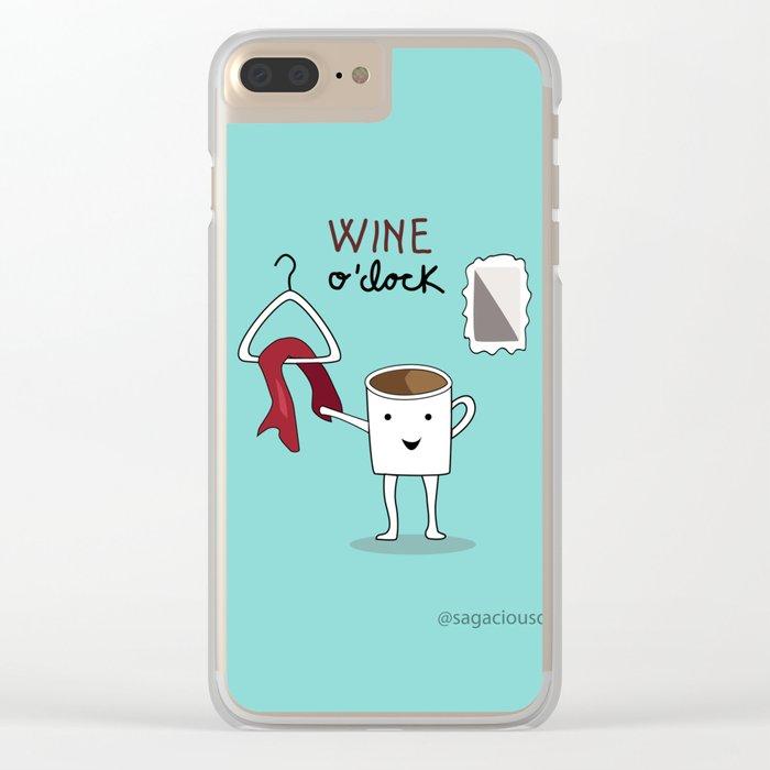 Wine O'clock Clear iPhone Case