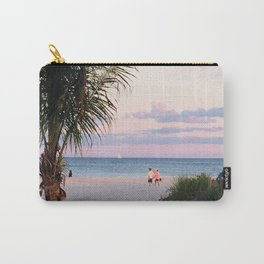 Lovers walk beach Carry-All Pouch