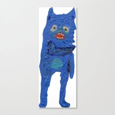 el monstro azul Canvas Print