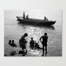 In morning of Ganges river Canvas Print