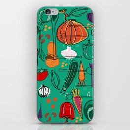 fall veggies green iPhone Skin