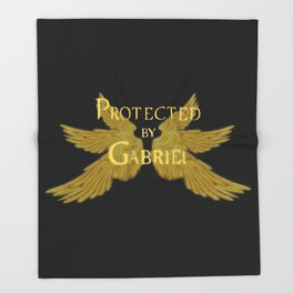 Protected by Gabriel Throw Blanket