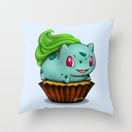 Bulba Cupcake Throw Pillow