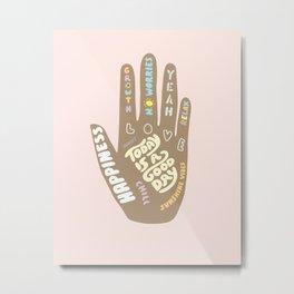 Positive Vibes Hand Metal Print