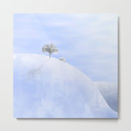 The polar bear and the tree Metal Print