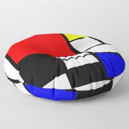 Mondrian Art Floor Pillow
