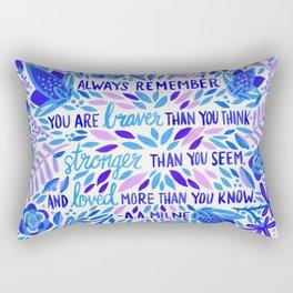 Always Remember – Indigo Palette Rectangular Pillow