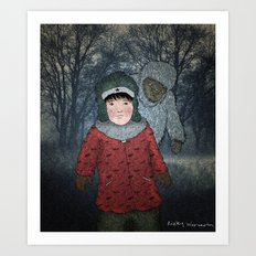Посмотри! Йети - Beware of the Yeti!  Art Print