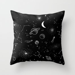 galactic pattern Throw Pillow