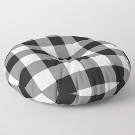 Black Gingham Pattern Floor Pillow