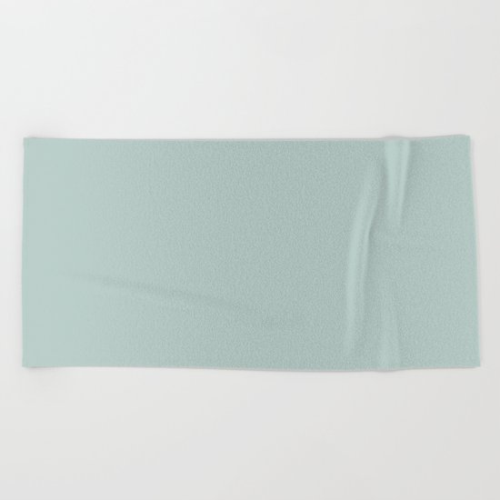 Forest Fern Green Beach Towel