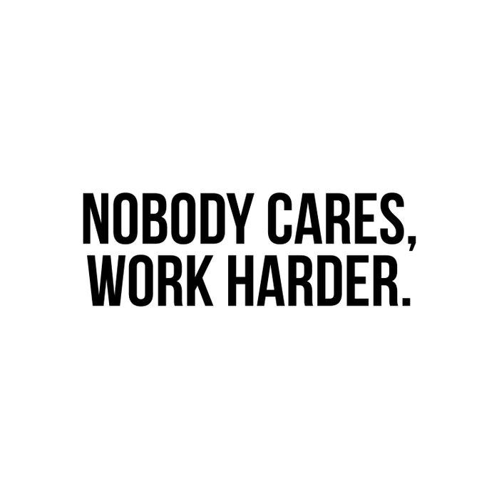 Nobody cares, work harder. Duvet Cover