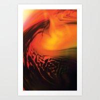 Permiating darkness Art Print